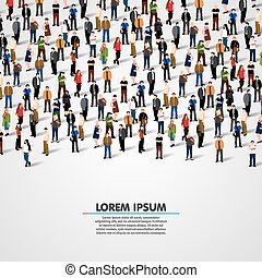 Large group of people. - Large group of people on white ...