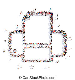 people representing the printer.
