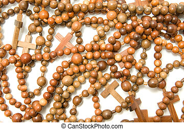 Large group of Wooden rosary beads