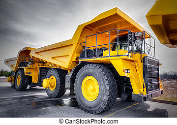 Large haul truck ready for big job in a mine. Low...