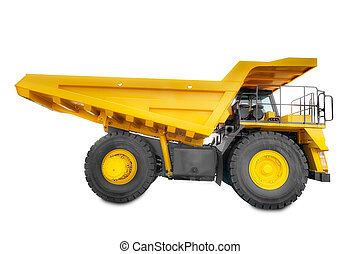Large haul truck side - Large haul truck isolated on a white...