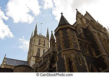 Large historic christian church in London, England