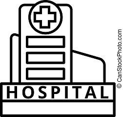 Large Hospital Building - Modern Hospital Building vector...