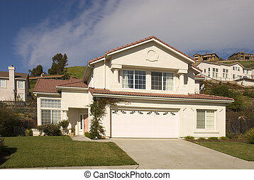large house in the hillside community