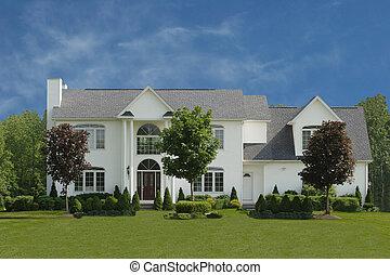 Large executive style white house.