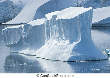 large iceberg in the Strait between the islands off the west coast of the Antarctic Peninsula