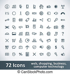 Large Icons Set. 72 Items