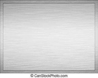 brushed metal plaque - large image of a brushed metal plaque