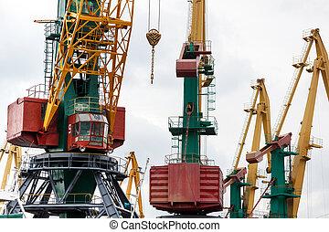 Large industrial crane