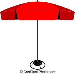 Large industrial umbrella - Large modern industrial umbrella...