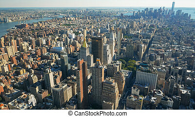 large, inférieur, angle, manhatten, ny, coup