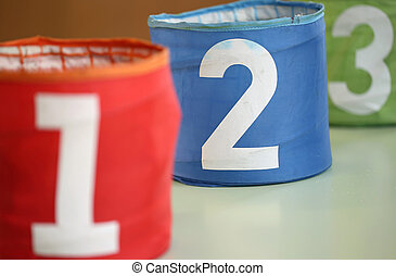 large jars for toys with numbers