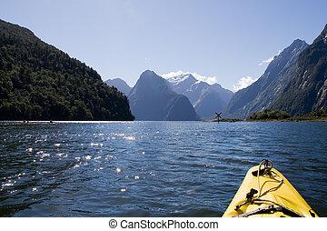 large, kayak, aventure