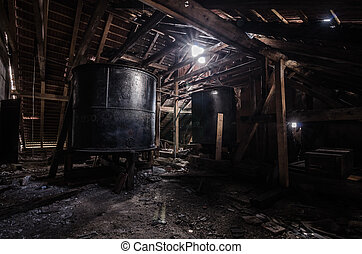 large kettle on top floor