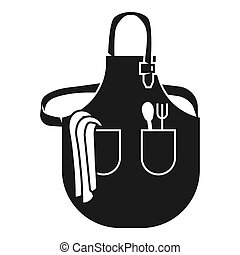 Large kitchen apron icon, simple style