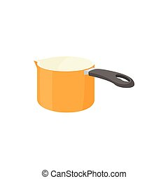Large ladle icon in cartoon style
