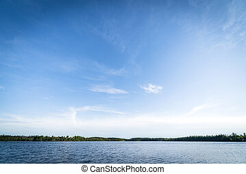 Large lake in pure nature surroundings