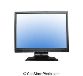 large, lcd, écran