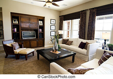 Large living room - Beautiful large executive home living...