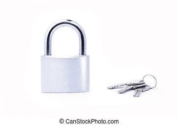 Large lock key.