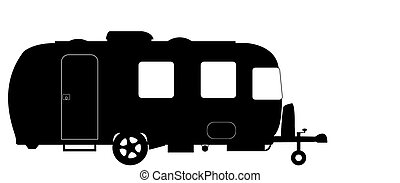 Large Luxury Caravan Silhouette