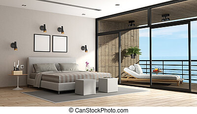 Large master bedroom of an holiday villa