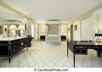 Large master bedroom - Traditional large master bedroom in...