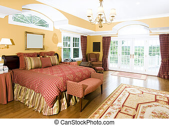 large master bedroom with window light - luxurious master...