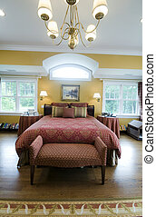 large master bedroom with window light