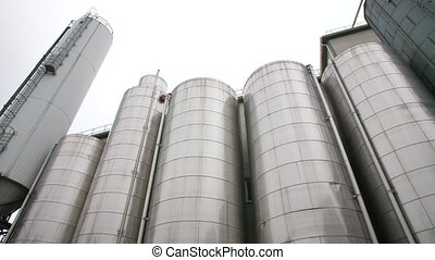 Large metal industrial tanks for liquid - Large metal...