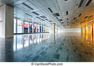 Large modern empty floor