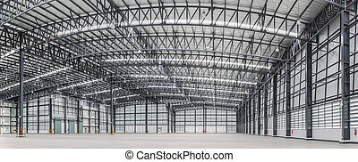 Large modern storehouse with some goods and space area