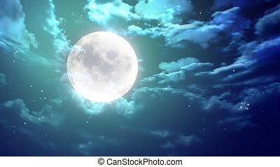 large moon nice night - large moon animation