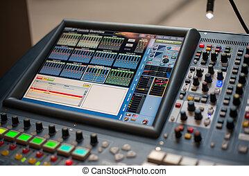 Large Music Mixer desk at he Concert