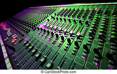 Large Music Mixer desk at he Concert