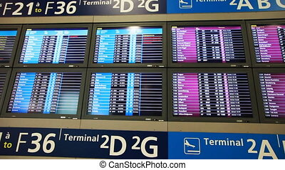 Large number of information boards - large number of...