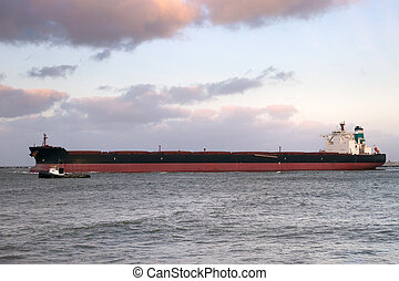 Large oil tanker shipping industry
