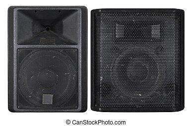 Large old concert loudspeakers