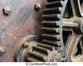 Large old gears
