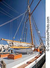 Large, old sailing ship