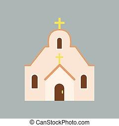 Large Orthodox cathedral. House of God. Catholic church with...