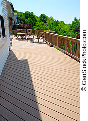 Large Outdoor Deck - A large deck on the outside of the back...