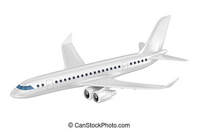 Large passenger plane. 3D illustration. My own plane design.