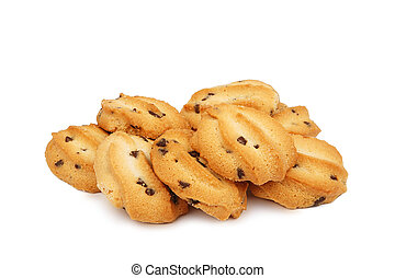 large pile of chocolate chip cookies