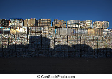 Large Pile of Cubed Scrap Metal