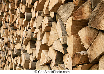 Large pile of firewood - Outdoor shot of a large pile of...