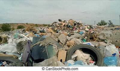 Large Pile Of Garbage Outside City In Ukraine