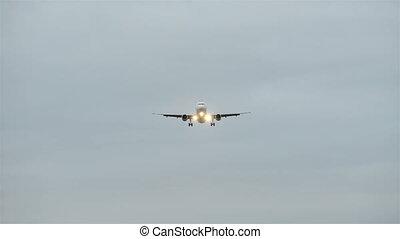 Large plane landing