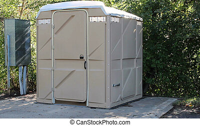 portable toilet - large plastic portable toilet for use by...