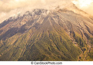 Large Plume Of Ash And Steam From The Tungurahua Volcano -...